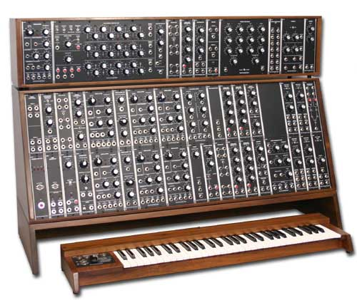 Analog modular synth photo